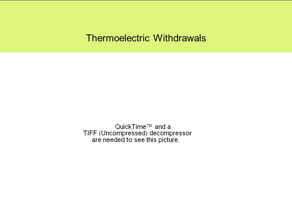 Thermoelectric Withdrawals