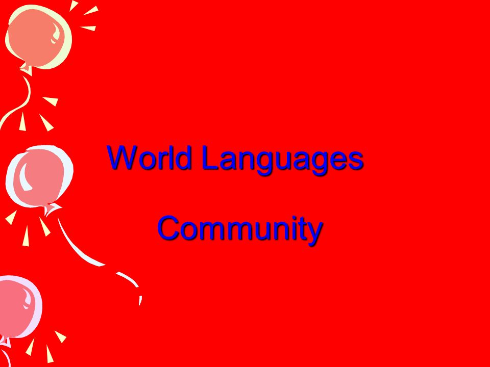 World Languages Community