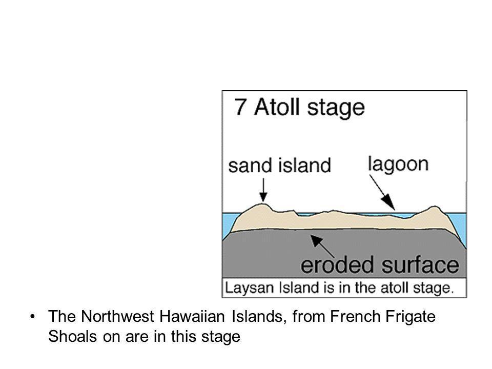 The Northwest Hawaiian Islands, from French Frigate Shoals on are in this stage