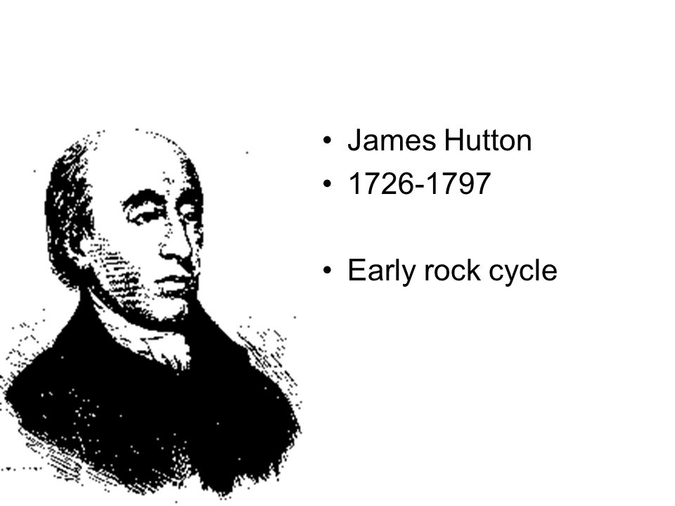 James Hutton 1726-1797 Early rock cycle
