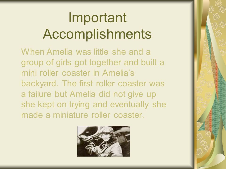 Background Information Full Name: Amelia Mary Earhart Spouse: George P.