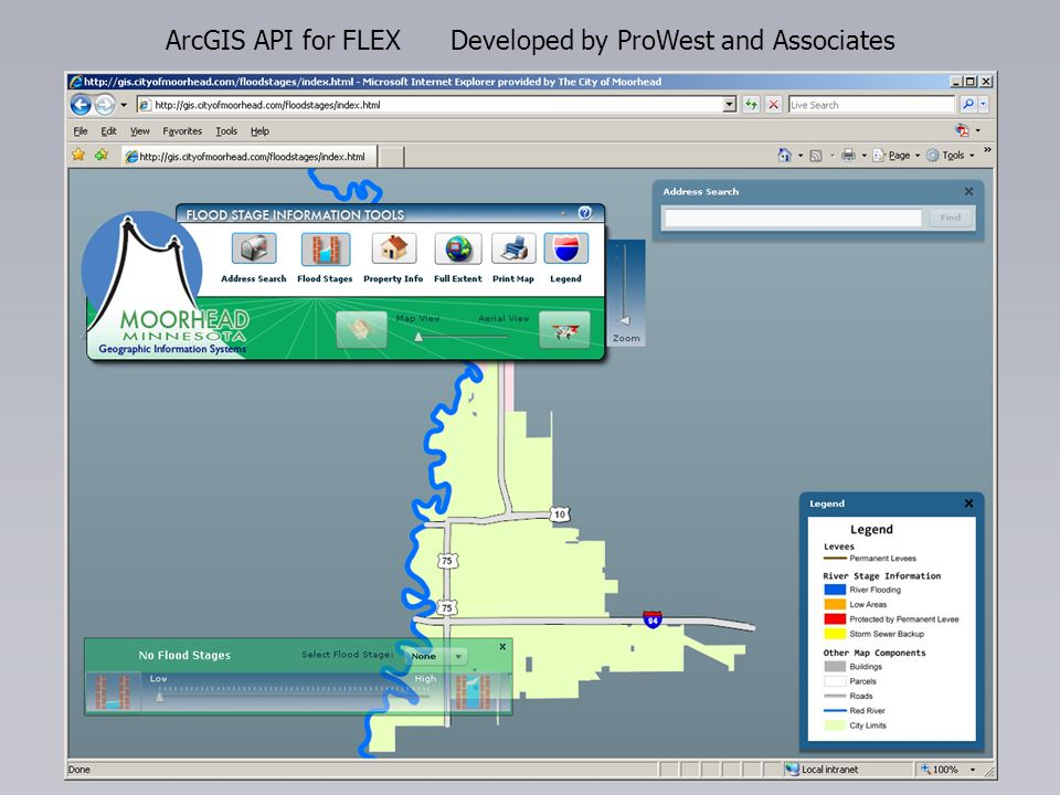 ArcGIS API for FLEX Developed by ProWest and Associates