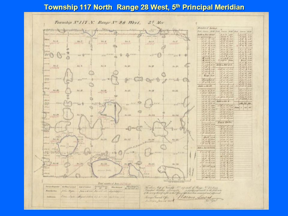 Township 117 North Range 28 West, 5 th Principal Meridian