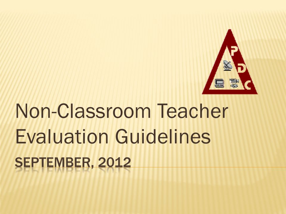 Non-Classroom Teacher Evaluation Guidelines
