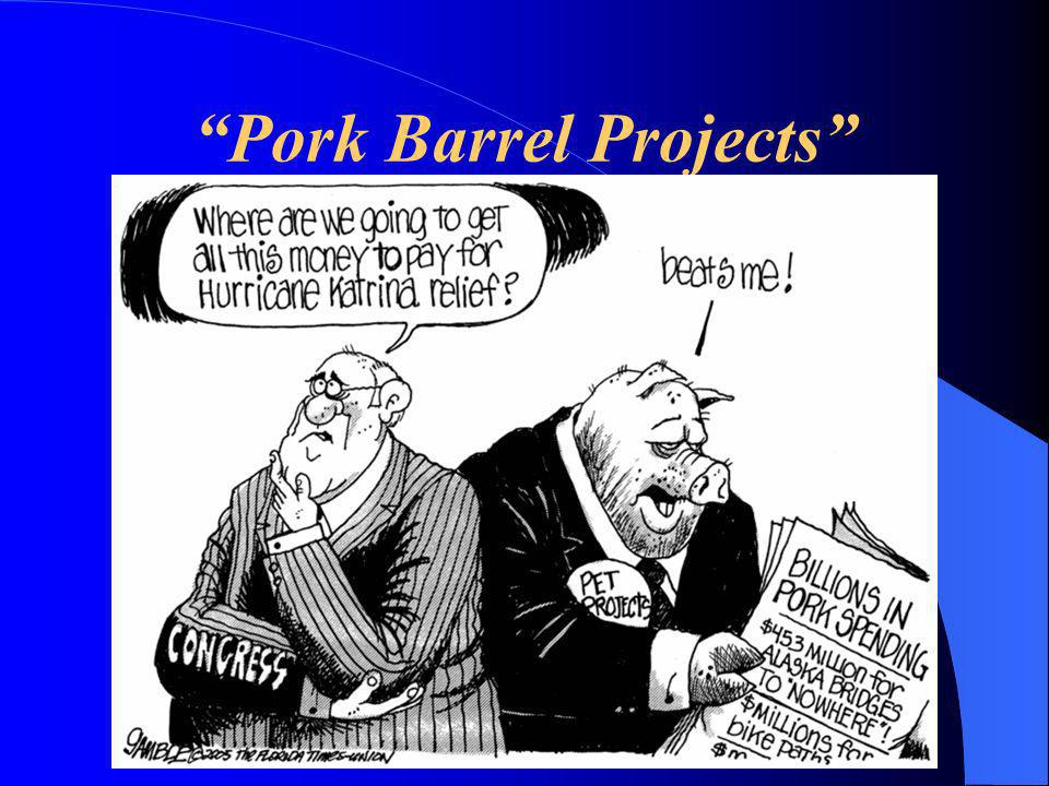 Pork Barrel Projects