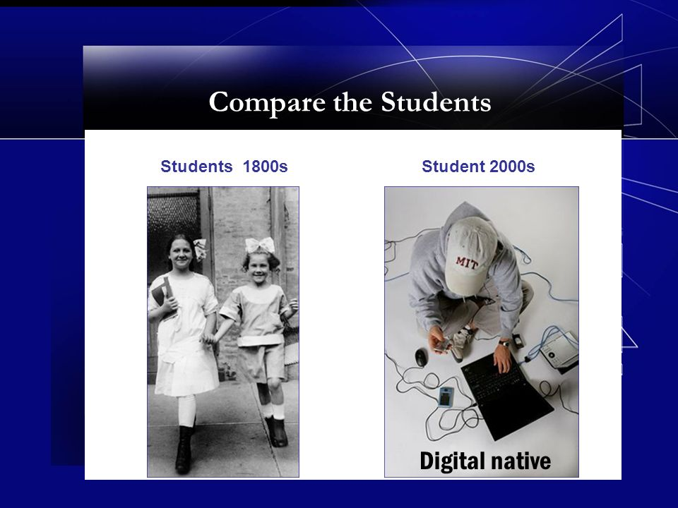 Compare the Students Students 1800sStudent 2000s Digital native