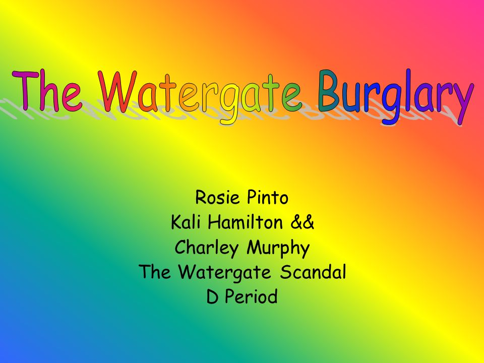 Rosie Pinto Kali Hamilton && Charley Murphy The Watergate Scandal D Period