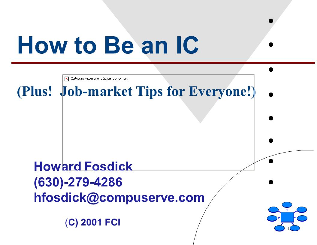 1 How to Be an IC (Plus.