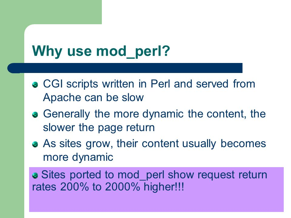 Why use mod_perl.
