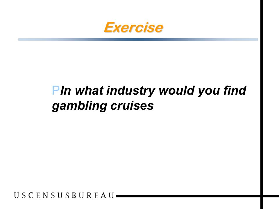42 Exercise PIn what industry would you find gambling cruises