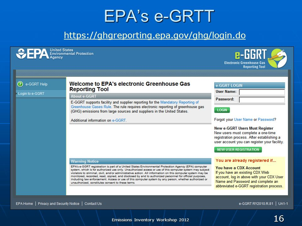 EPAs e-GRTT 16   Emissions Inventory Workshop 2012