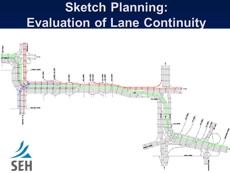 Sketch Planning: Evaluation of Lane Continuity