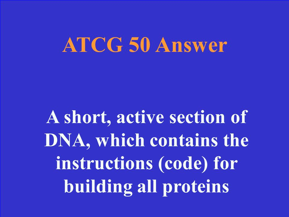 ATCG 50 What is a gene