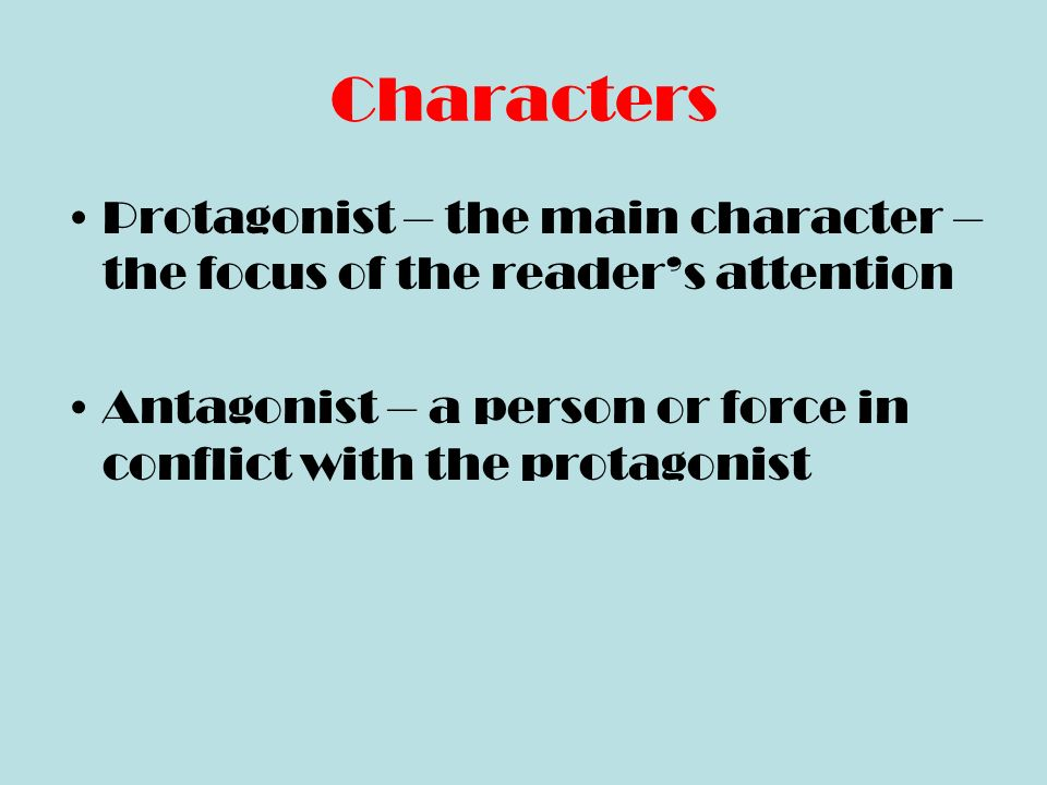 Indirect Characterization The reader does the work.