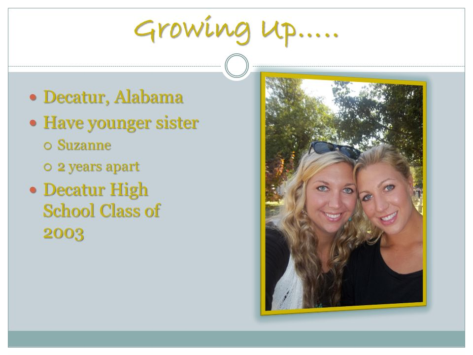 Growing Up…..