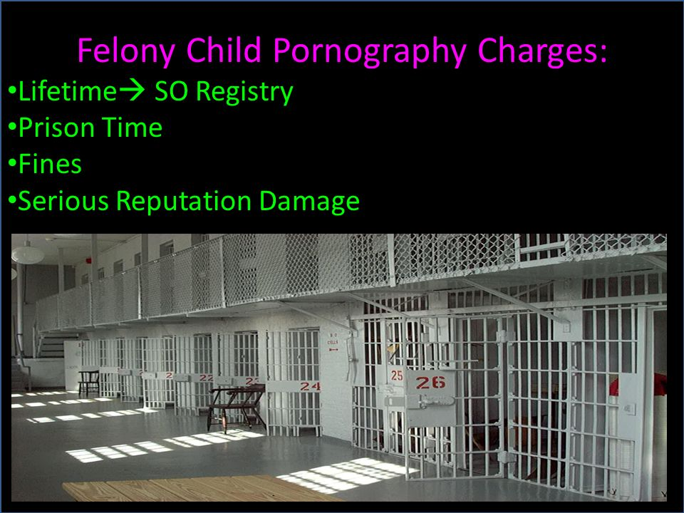 Felony Child Pornography Charges: Lifetime SO Registry Prison Time Fines Serious Reputation Damage