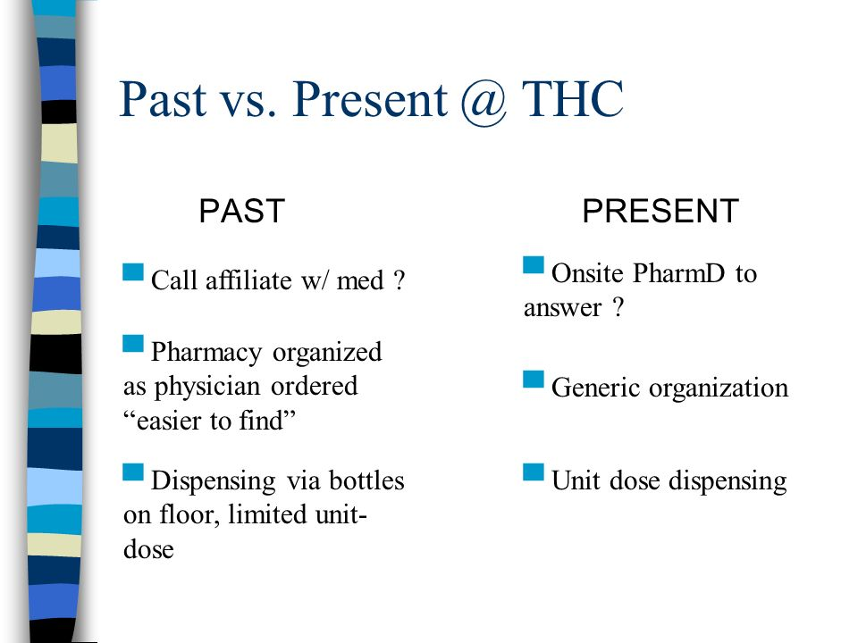 Past vs. Present @ THC PASTPRESENT Call affiliate w/ med .