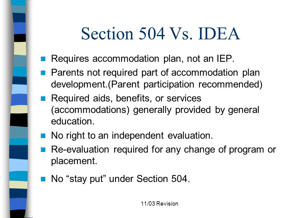 11/03 Revision When to Consider the Possible Existence of a Disability When retention is being considered.
