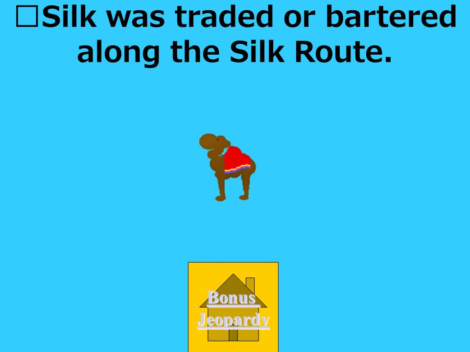 Silk was traded or bartered along which road. A. Interstate 81 B.