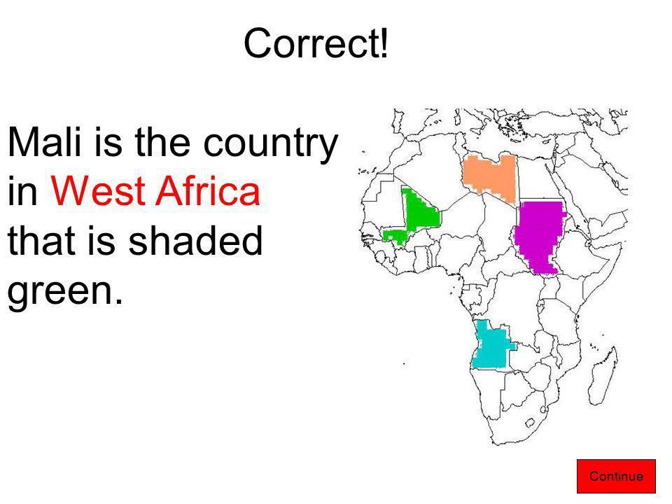 2. Can you find Mali on the present day map of Africa.