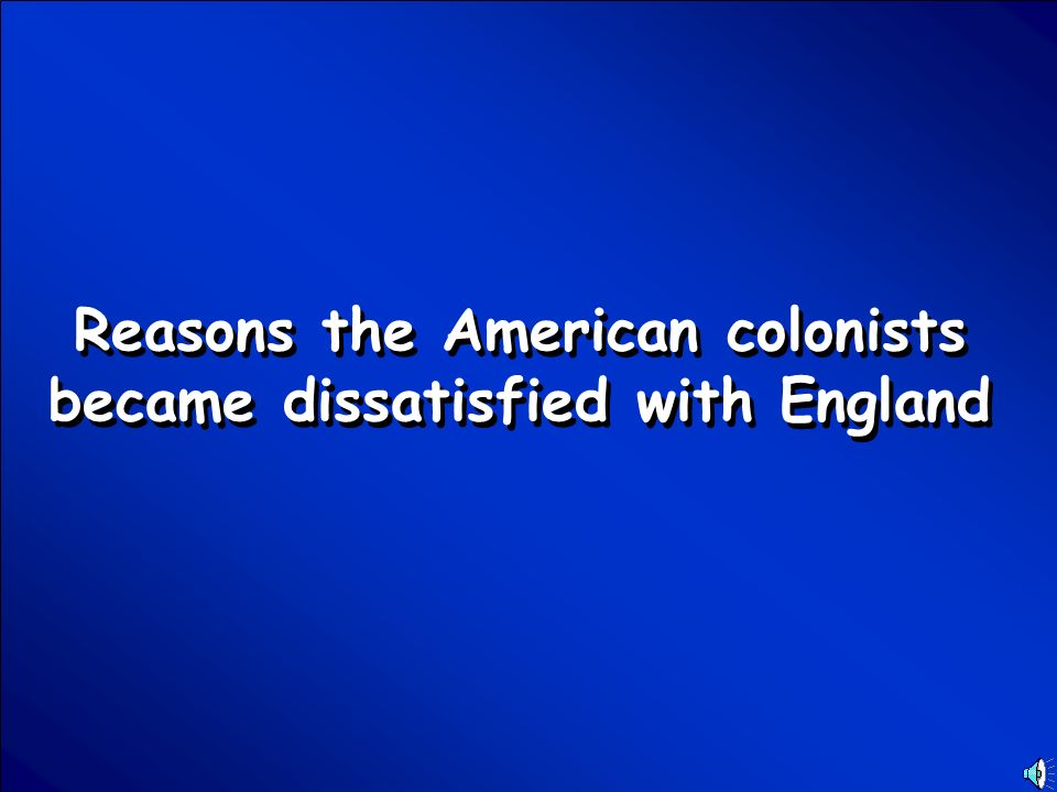 © Mark E. Damon - All Rights Reserved Scores American Revolution Final Jeopardy Question