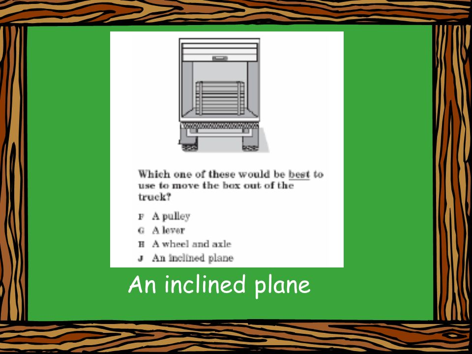 An inclined plane