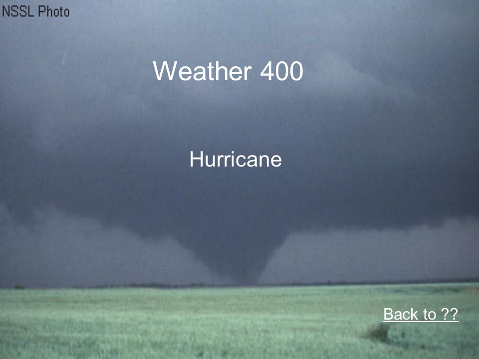 Weather 400 Hurricane Back to