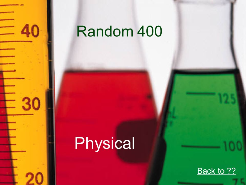 Random 400 Physical Back to