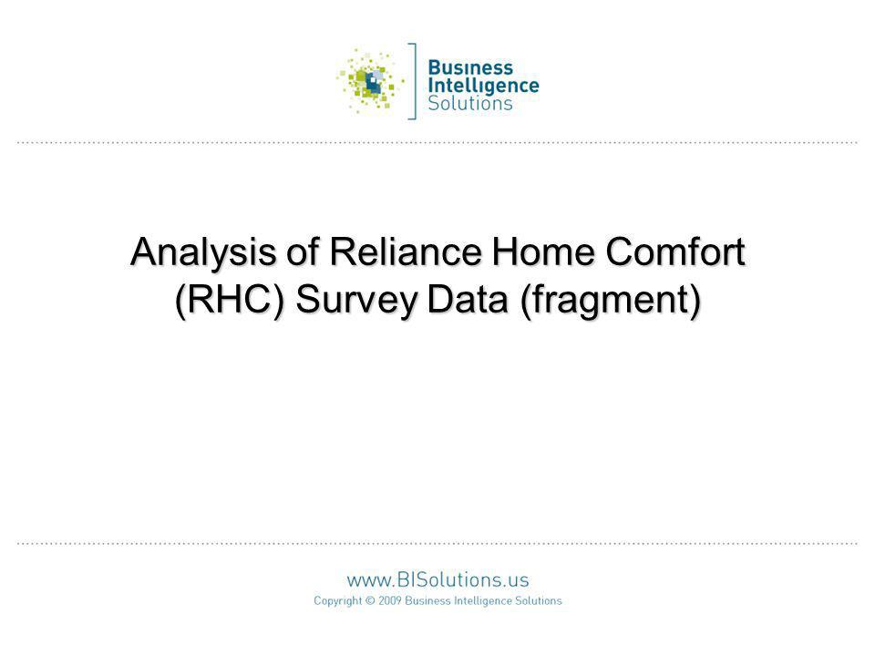 Analysis of Reliance Home Comfort (RHC) Survey Data (fragment)