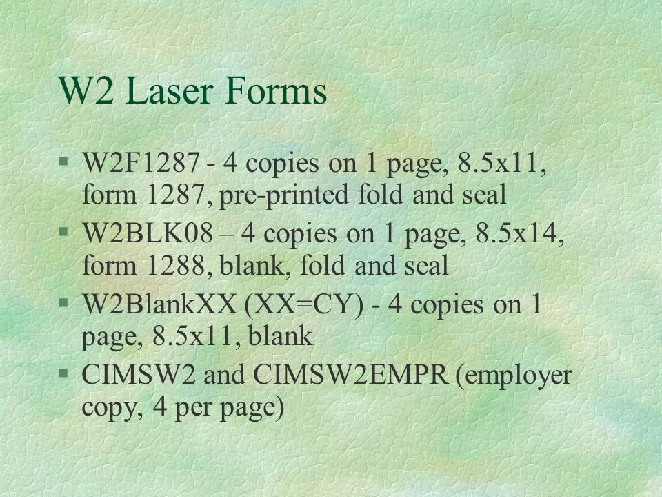 2008 W2s Kim Harvey Winter Conference W2 Laser Forms W2f Copies On