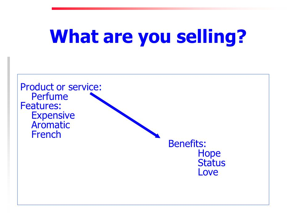 What are you selling.