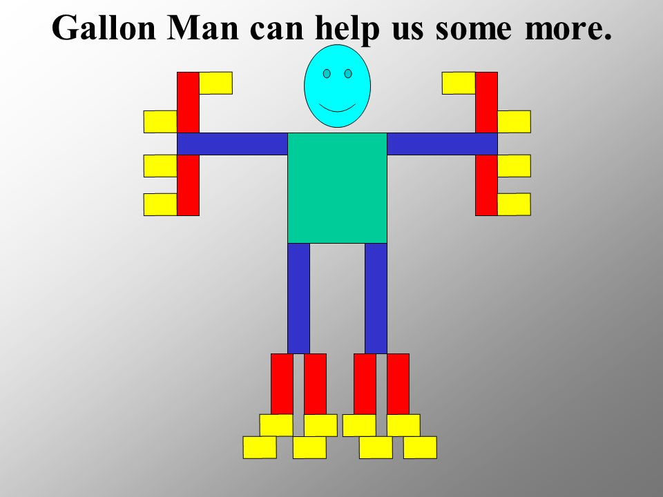 Gallon Man can help us some more.