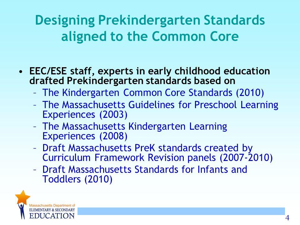 1 Massachusetts Draft Of Prekindergarten Standards In
