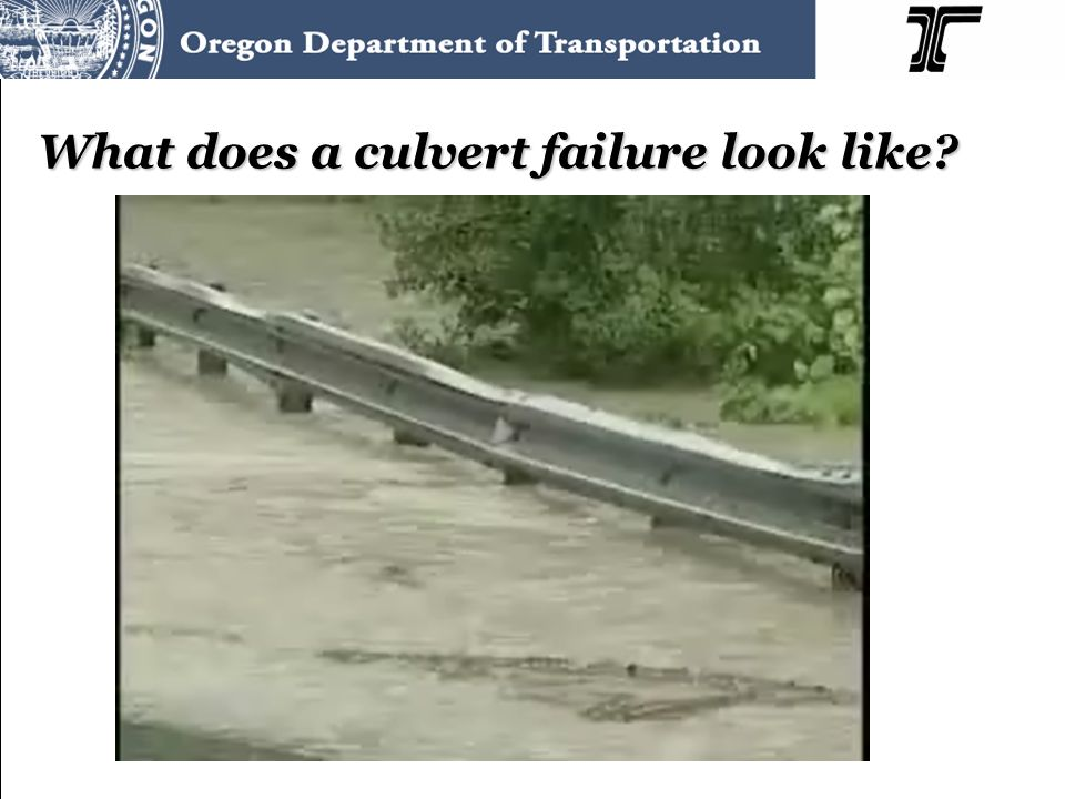 What does a culvert failure look like