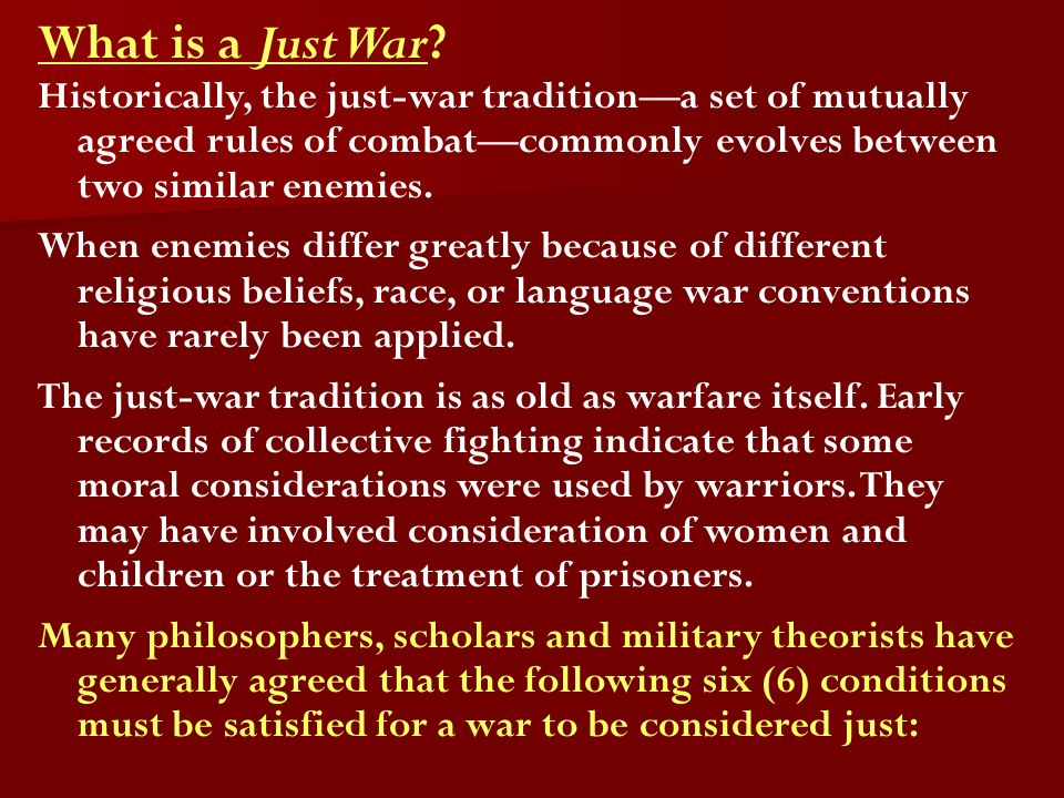 What is a Just War.