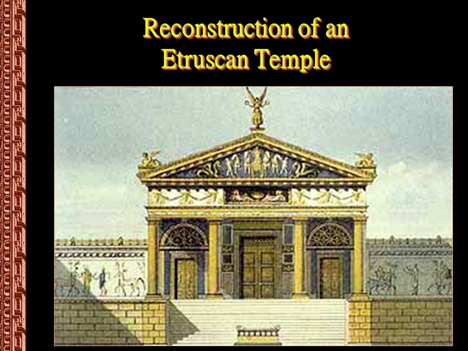 Reconstruction of an Etruscan Temple