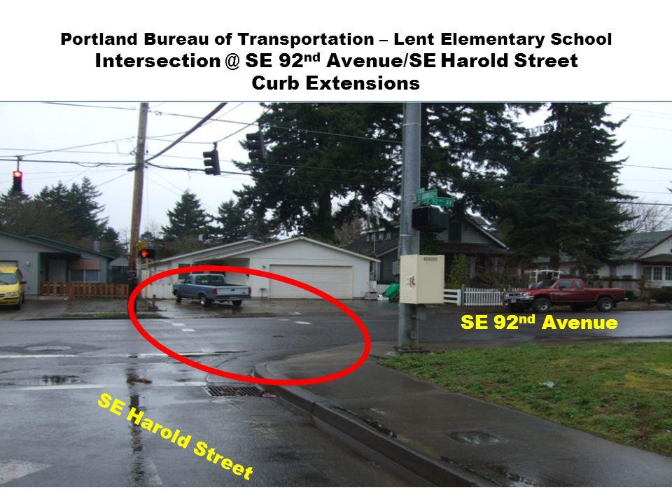 Portland bureau of transportation lent elementary mill park