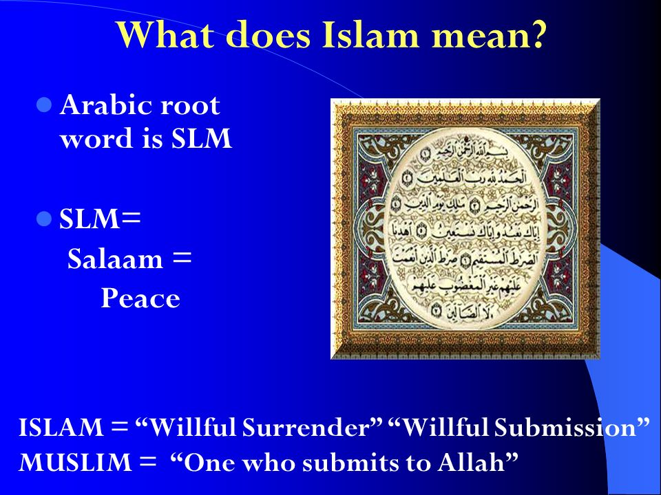 What does Islam mean.