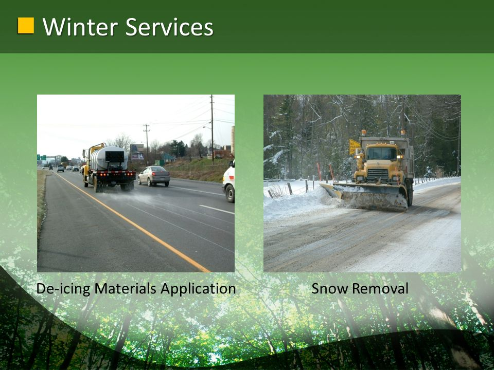 Winter Services De-icing Materials ApplicationSnow Removal