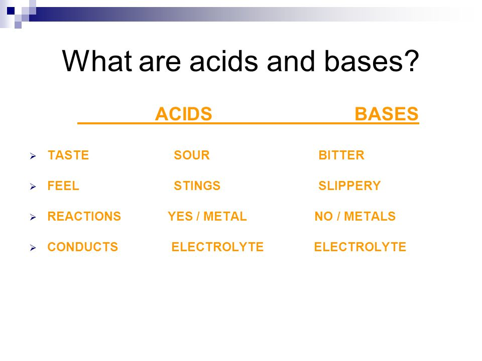 What are acids and bases.