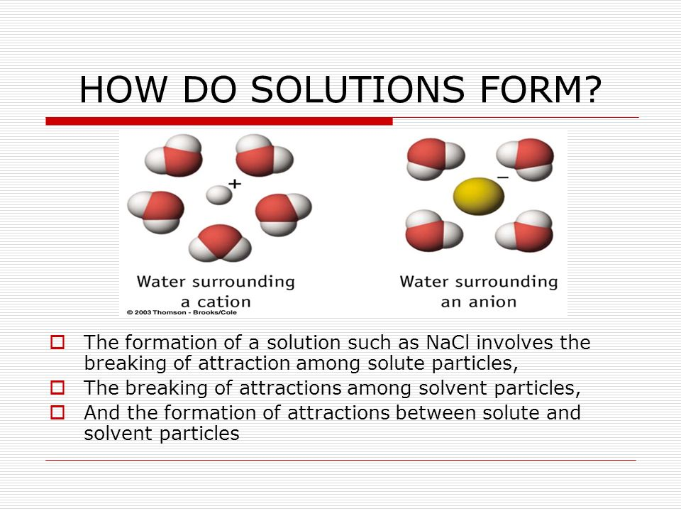 HOW DO SOLUTIONS FORM.