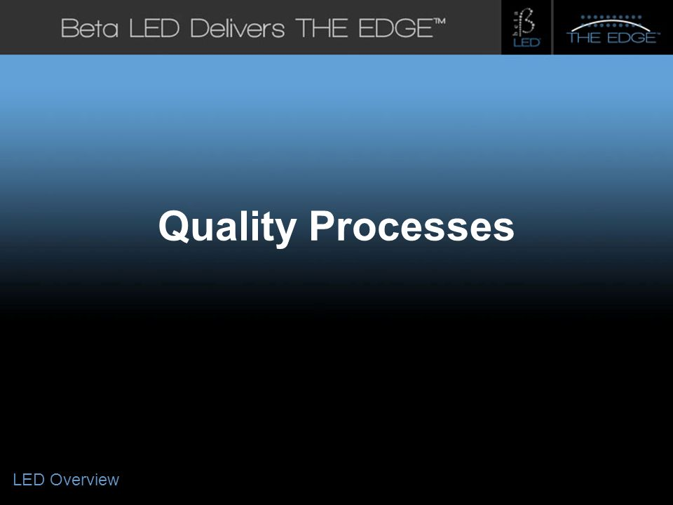 #title# Quality Processes LED Overview