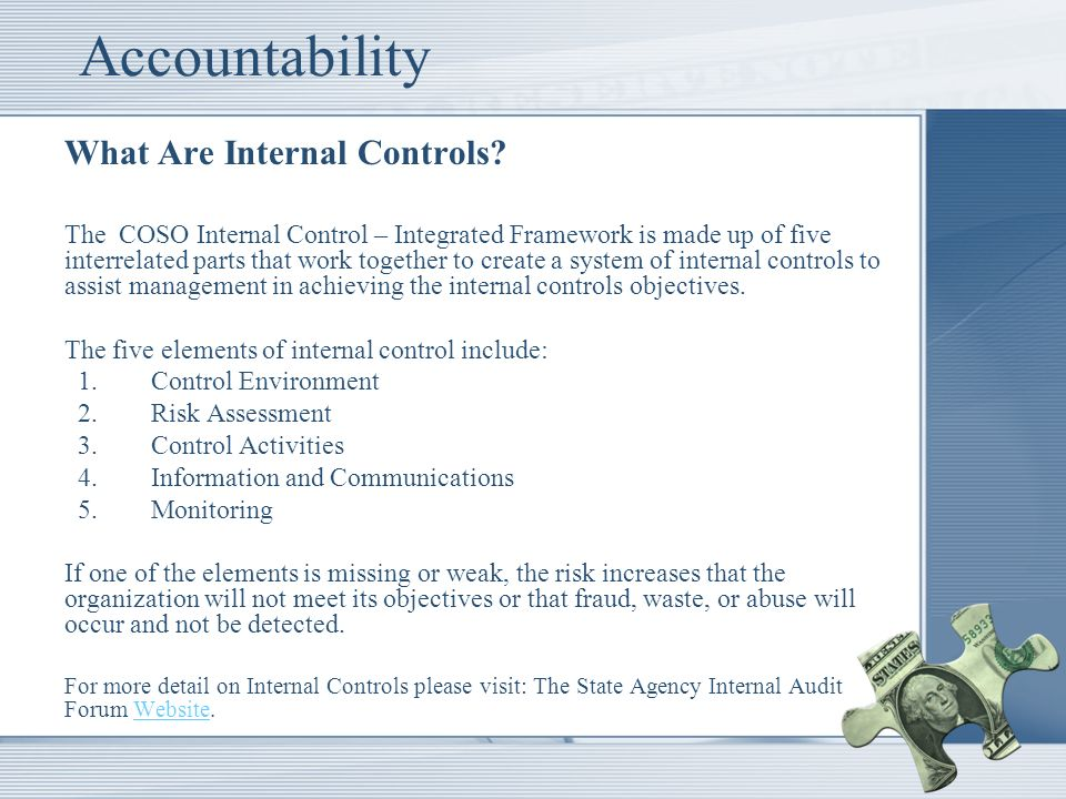 Accountability What Are Internal Controls.