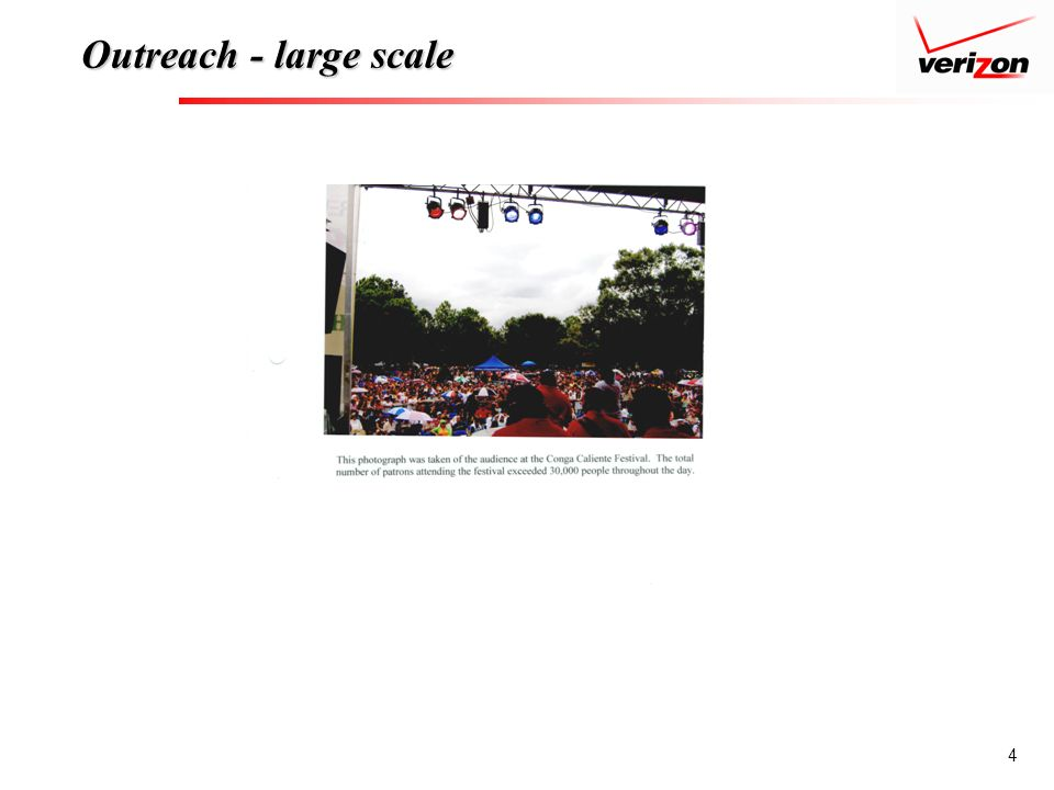 4 Outreach - large scale