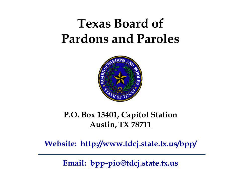 Texas Board of Pardons and Paroles P.O.