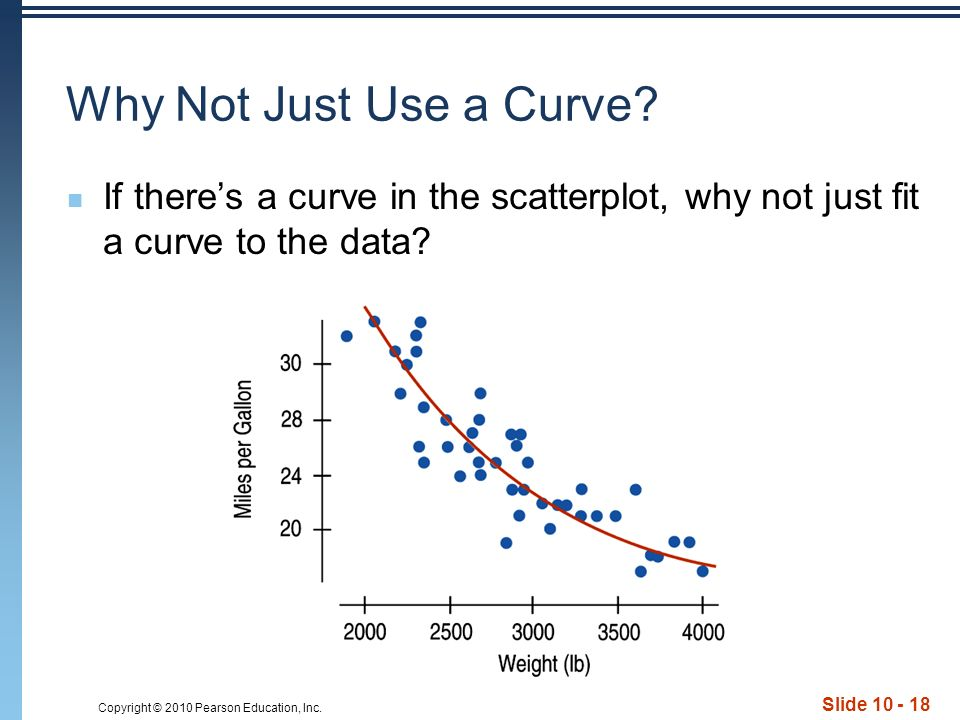Copyright © 2010 Pearson Education, Inc. Slide Why Not Just Use a Curve.