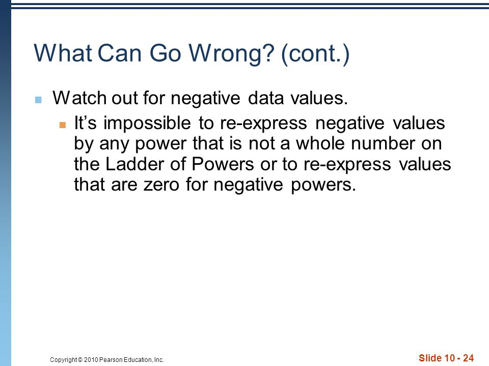 Copyright © 2010 Pearson Education, Inc. Slide What Can Go Wrong.