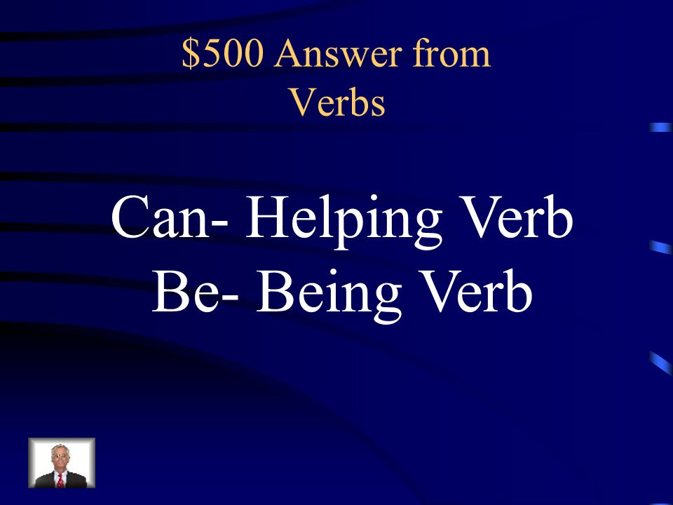 $500 Question from Verbs The cafeteria can be loud.