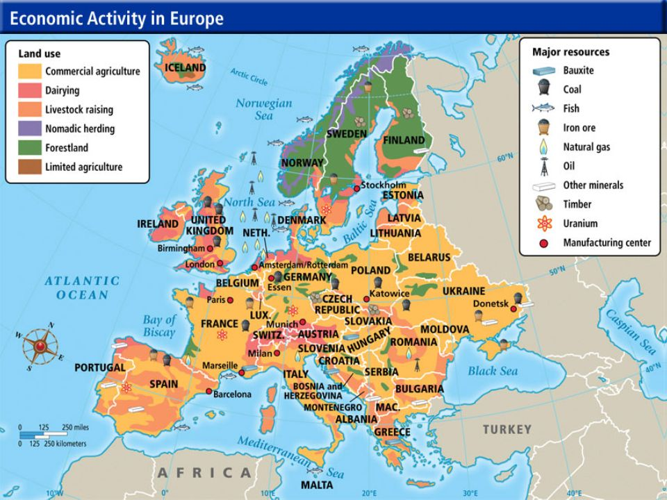 Resources Map Of Europe.Vocabulary Europe S Geography Ppt Video Online Download