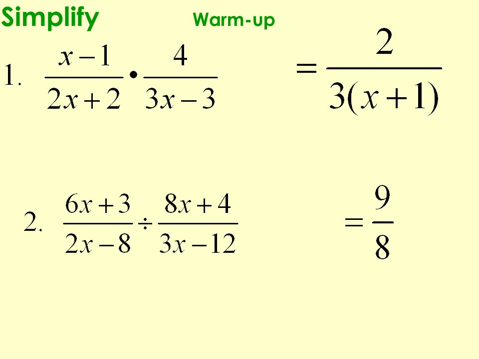 Simplify Warm-up